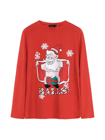 Autumn and winter new Christmas bottoming shirt long-sleeved women's t-shirt