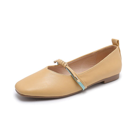 Fairy student wild flat-bottomed peas single shoes