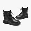 Women's thick-soled Martin boots ladies' breathable short boots spring and autumn cowhide motorcycle boots
