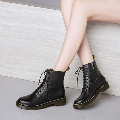 2019 new wear-resistant anti-slip thick leather 8 hole booties