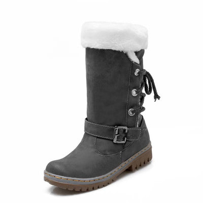 2019 new fashion warm non-slip flat bottom ladies snow boots