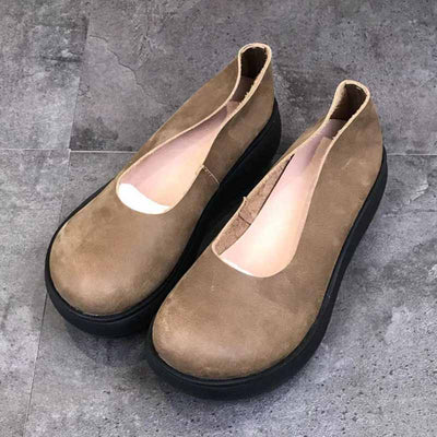 Thick bottom sponge cake wild casual retro lazy shoes