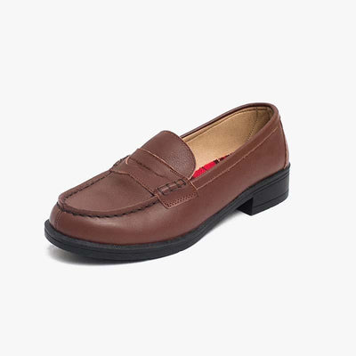 Black brown low school with women's shoes leather shoes