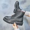 Autumn new thick and breathable ladies leather Martin boots