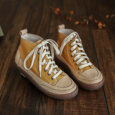 2019 autumn Mori retro art leather women's single shoes casual trend college wind flat shoes