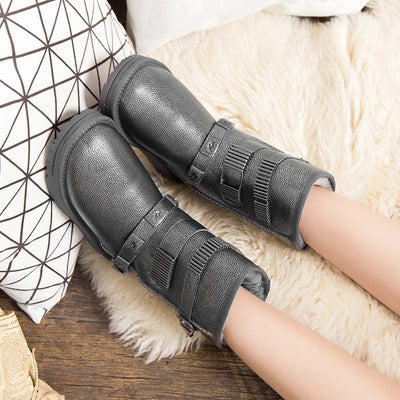 Snow boots female 2019 new wool warm mid tube breathable rubber non-slip female snow boots