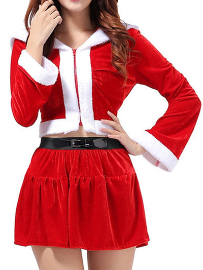 Christmas costumed Christmas role playing women's / short skirt