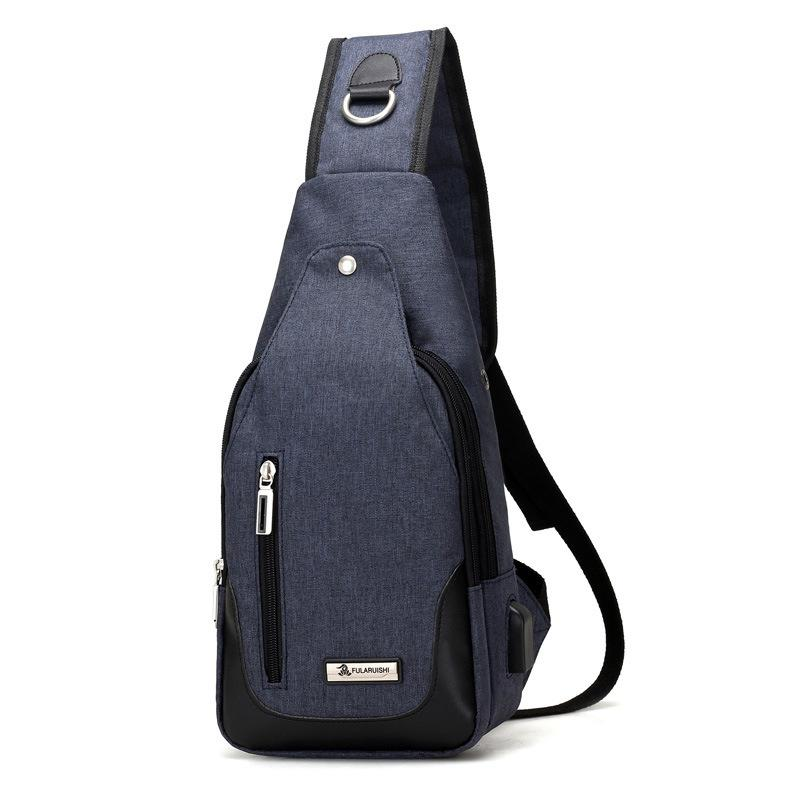 New men's chest bag leisure travel shoulder bag outdoor portable riding diagonal bag
