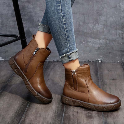 New original vintage leather hand-slip soft bottom beef tendon Martin boots