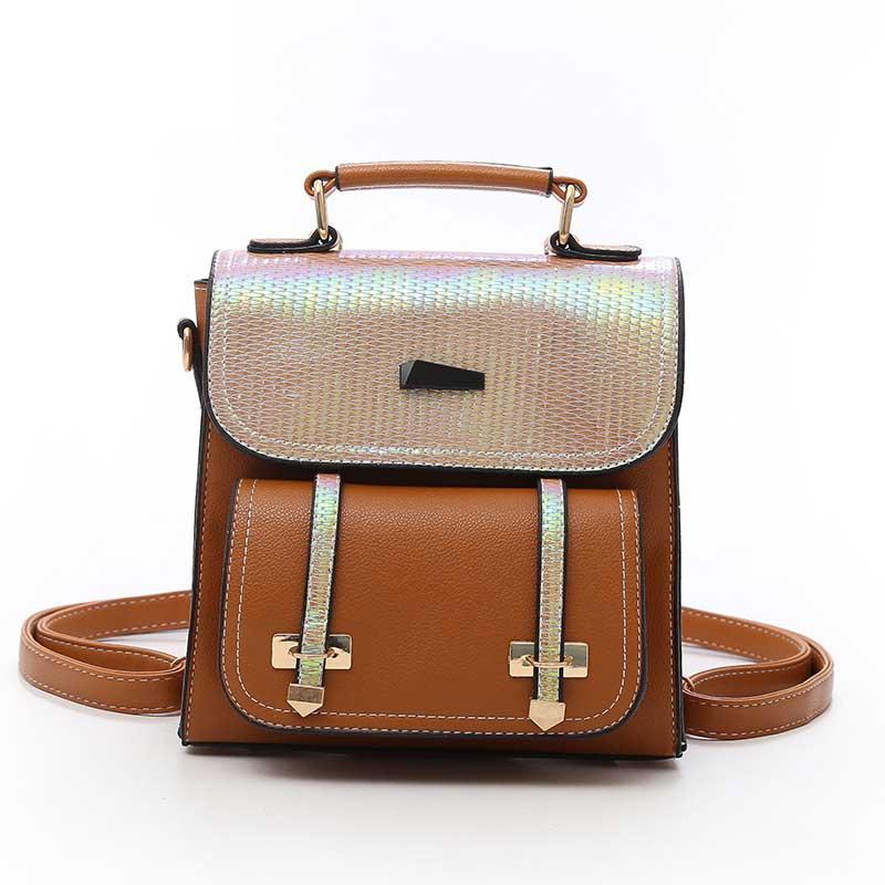 2020 summer new wild fashion sequin solid color women's backpack