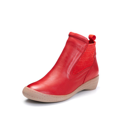 2019 Pure color wedge with ladies new leather boots