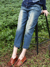 Plus Size Ethic High-Waist Ankle Length Pocket Cotton Soft Jeans