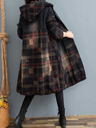 Winter thick warm print cowboy sand wash stitching winter plus long ladies cotton padded clothes