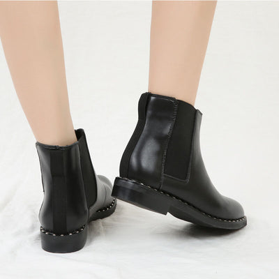 Thick and frosted high-top slimming large size Martin boots