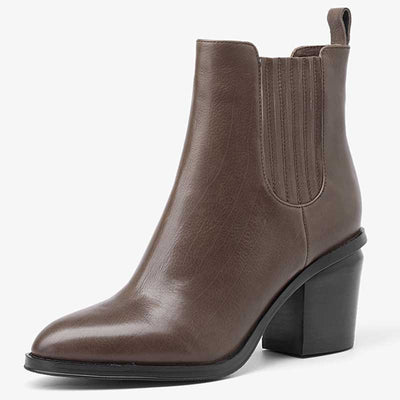 Chelsea boots pointed high-heeled ankle boots female fashion thick with Martin boots female