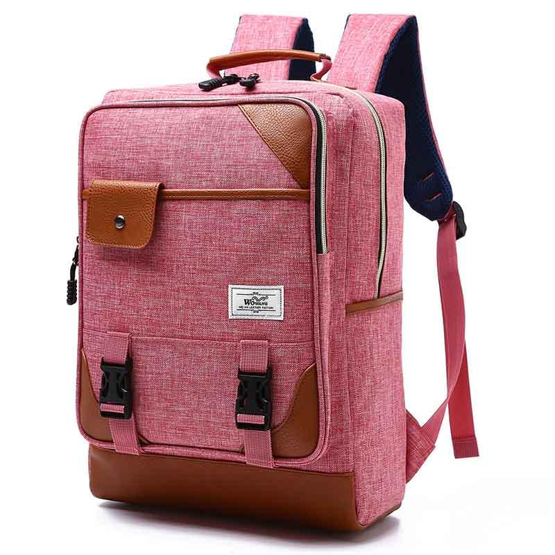 New fashion casual backpack retro computer backpack men and women students schoolbag travel backpack
