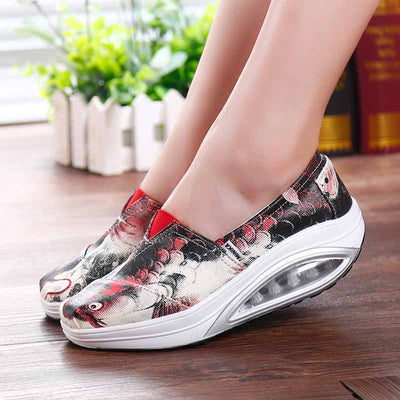 Increase the low to help the foot air cushion canvas shoes