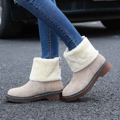 2019 winter new solid color matte warm snow boots
