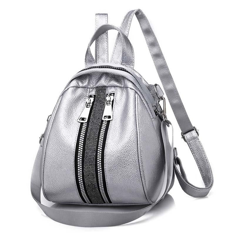 2020 new PU leather popular Japanese style women's backpack