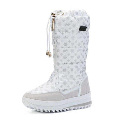 2019 Snowflake High Boots Thickened Super Soft Snow Boots Fluff-2