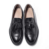Bullock thick-soled leather shoes round head leather retro single shoes thick with cowhide carved small shoes women