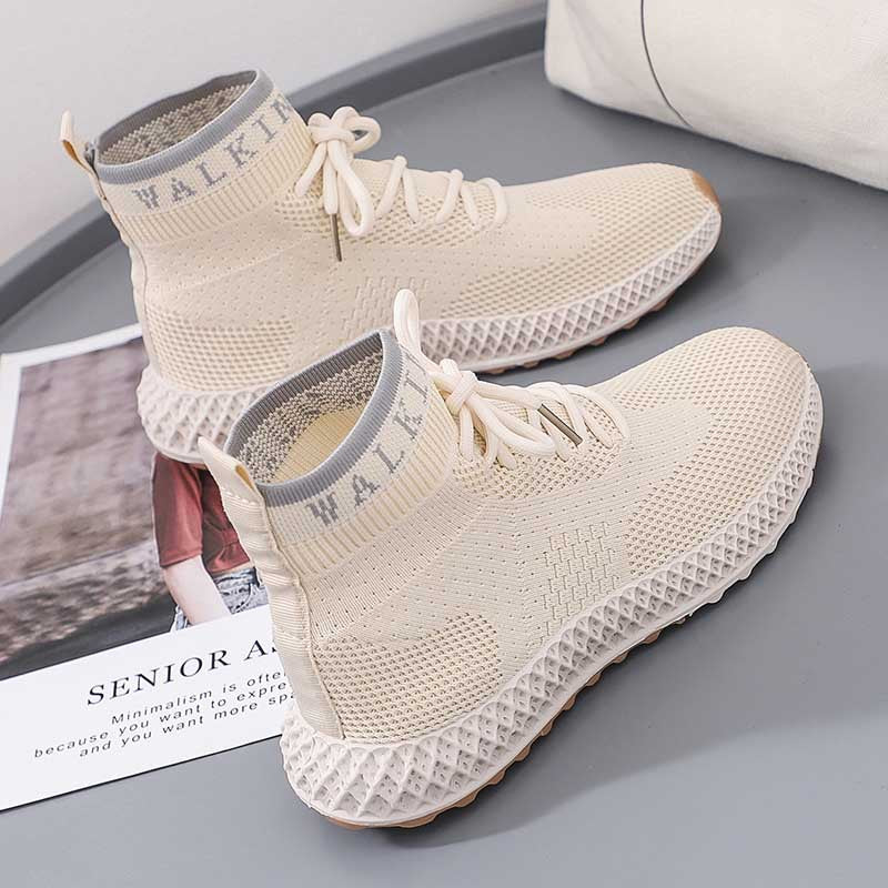 New autumn breathable versatile casual shoes round head in the mouth of sneakers