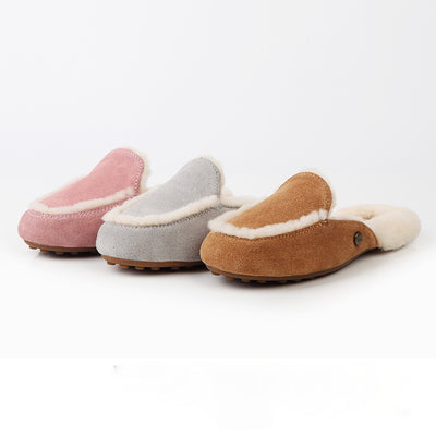 Winter female snow boots sheep fur-and-leather wool edge strip high-end slippers