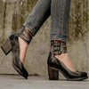 Autumn new retro high-heeled shallow mouth women's shoes