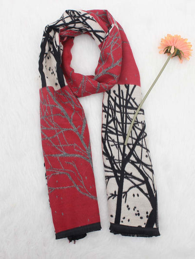 2019 autumn and winter new imitation cashmere scarf thick warm fashion wild branches ladies shawl