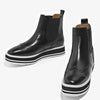 Autumn and winter leather shoes Martin boots female sponge cake high heels casual British wind retro Chelsea boots