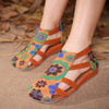 Contrast soft bottom flat sandals