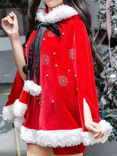 2019 Christmas costume large shawl hot drilling adult robes cosplay Christmas costume