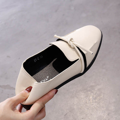 Flat bottom two wear a pedal student soft leather wild fashion small shoes