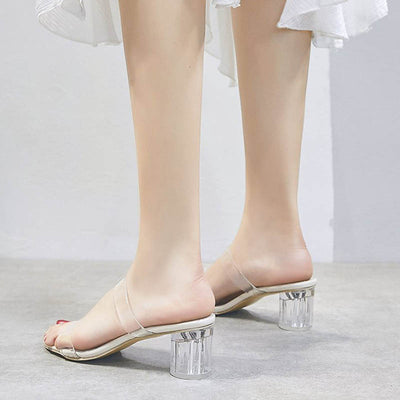 Fairy style wild fashion one strap buckle with high heels