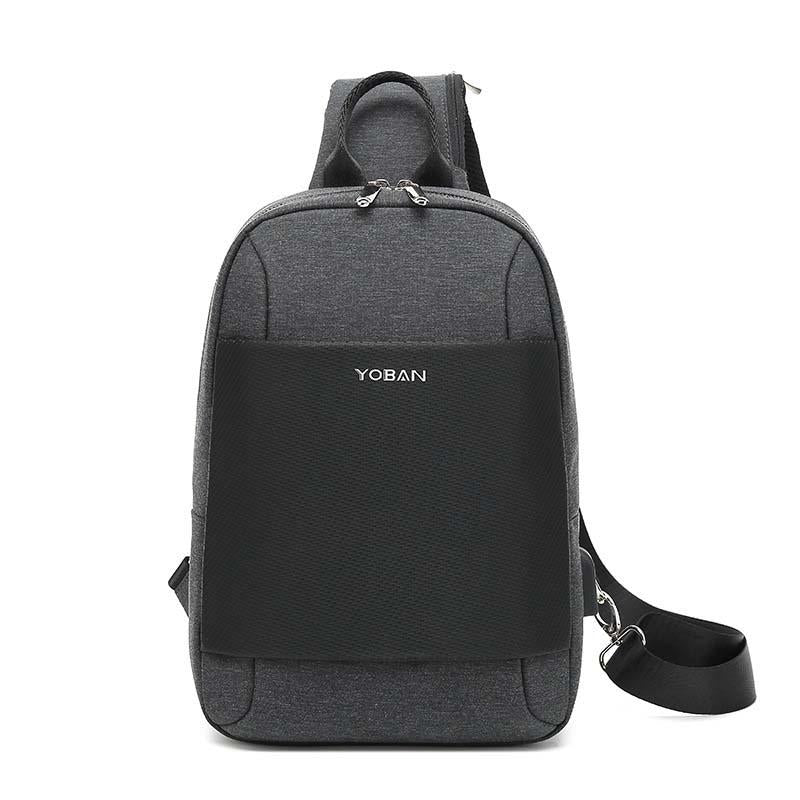 Multi-function waterproof USB travel chest bag portable cross-body sport shoulder bag business chest bag male