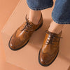 New England flat-bottom retro small shoes low-heeled shoes