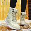 2019 winter fashion trend plus velvet warm waterproof wear-resistant large size couple snow boots