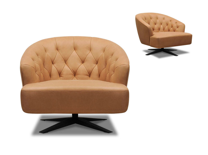 Orion Leather Swivel Chair