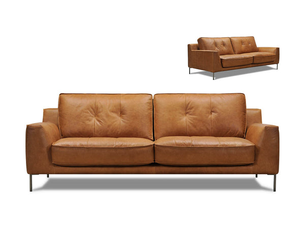 Wilder 2 Seater Leather Couch