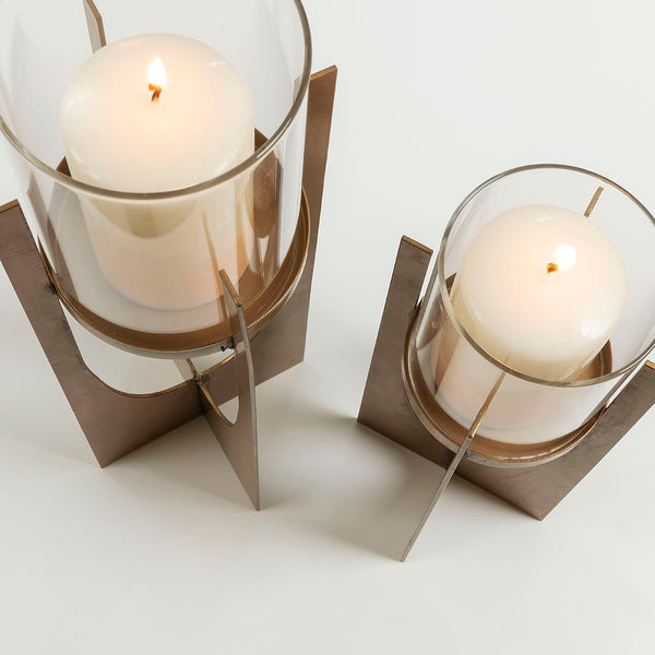 La Forma Auckland Set of 2 Candleholders Metal Gold
