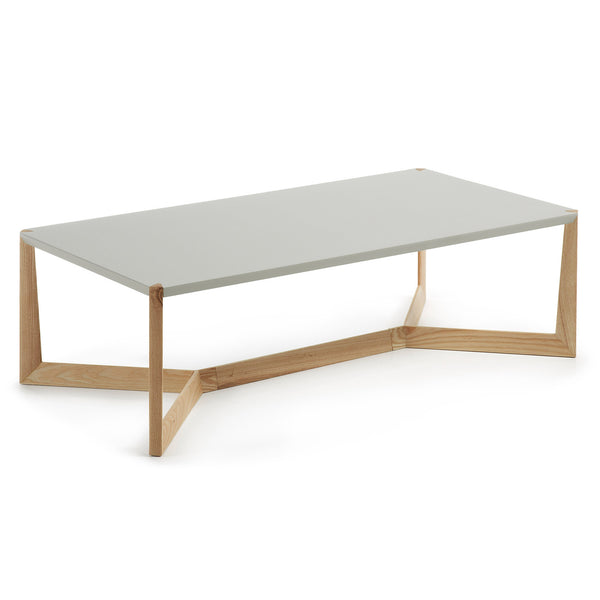 La Forma Duplex Coffee Table Walnut Lacquered Matt White