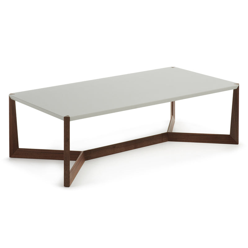 La Forma Duplex Coffee Table Walnut Lacquered Matt Light Grey