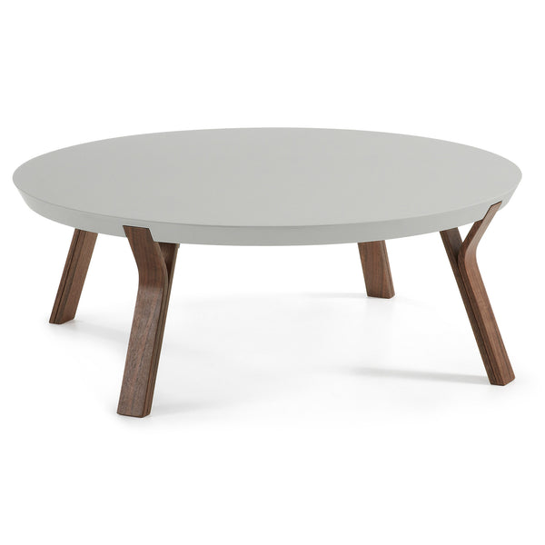 La Forma Solid Coffee Table Walnut Lacquered Matt Light grey