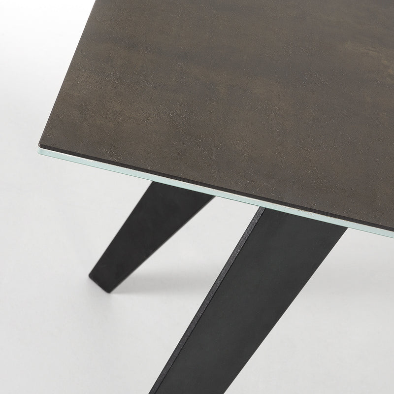 La Forma Nack Dining Table with Black Porcelain Top 200x100