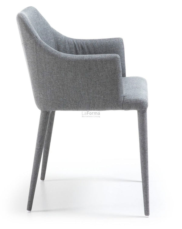 La Forma Danai Arcmchair Eco Nobuck Light Grey