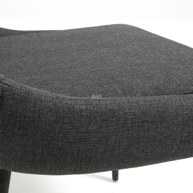 La Forma Dant Chair Pu Fabric Dark Grey