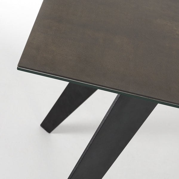 La Forma Nack Dining Table with Black Porcelain Top 180x100