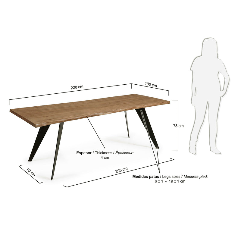 La Forma Nack Dining Table with Oak Top 220x100