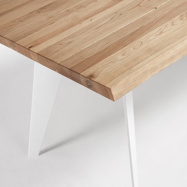 La Forma Nack Dining Table with Natural Oak Top 180x100