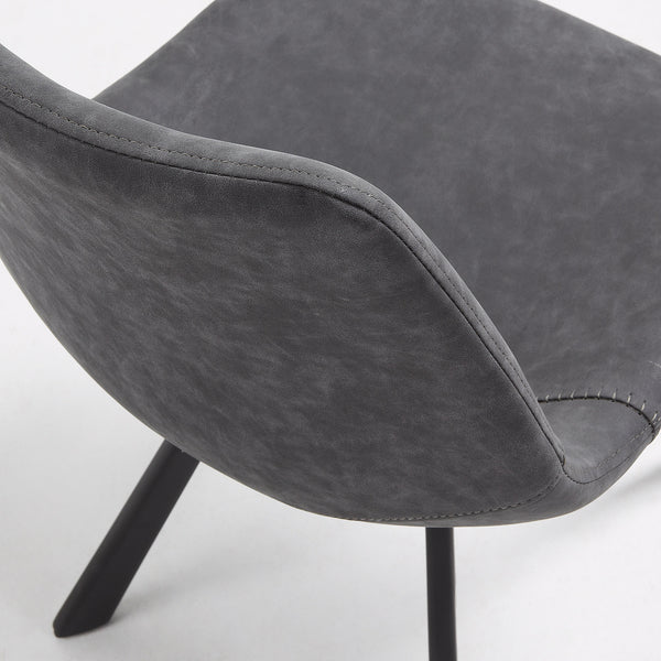La Forma Andi Chair PU Graphite Powder